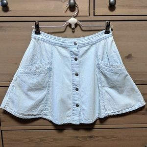 Free People Hi Waisted Denim Circle Skirt Size 4
